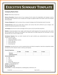 Executive Summary Format Template Sponsored Walk Form Template