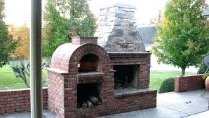 outdoor fireplace kits with pizza oven prefab build wood burning your own stove