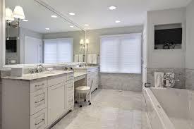 Bathroom  Wonderful White Wood Glass Modern Design Bathroom - Basic bathroom remodel
