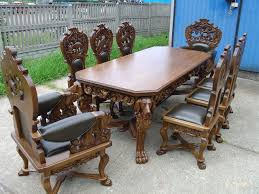 Dining Room Table 6 Chairs Baroque Style Hand Carved Dining Room Table 6 Chairs 2 Armchairs