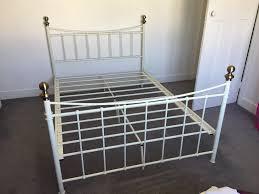 argos alderley white metal double bed frame