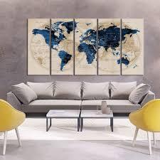 world map large wall art push pin wall