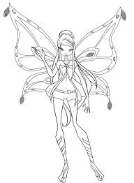 Winx Club Stella Enchantix Free Coloring Pages On Art Coloring Pages