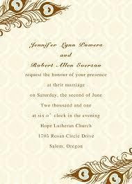 create a wedding invitation online printable peacock wedding invitations ewi156 wedding invitation