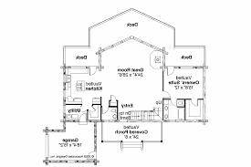 ... A Frame House Plan - Kodiak 30-697 - 1st Floor Plan
