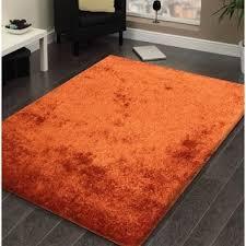 orange area rug. Shag Solid Rust Area Rug - 5\u0027 Orange N