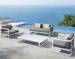 modern outdoor chairs cheap. grey lather cushions on modern white outdoor furniture completing cozy pool side patio with table chairs cheap