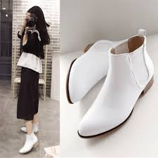 china white ankle boots ping at