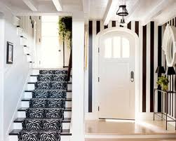 Interior:Traditional Black And White Hallway Design With ELegant Stair Idea  Beautiful Hallway Interior Design