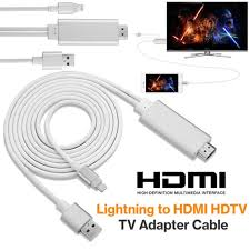 iphone to hdmi adapter. 2m apple lightning to hdmi hdtv av cable adapter for iphone 7 6 6s plus 5 iphone hdmi