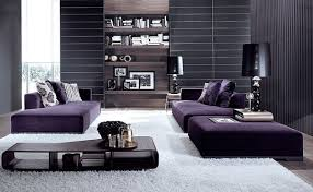 Living Room : Modern Purple Living Room Design Ideas With Grey And White  Soak Up Some Ultra Violet Including White Carpet Textured Sofa Pillow Plus  Black ...