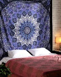 popular handicrafts hippie mandala tapestry blue purple tapestry wall hanging indian tapestry large table runner bed cover indian art cotton bohemian