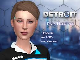 PW Creations | I converted Karas Hairstyles from Detroit Become... | Sims  4, Sims, Detroit become human