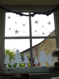 Meine Grüne Wiese Sterne Und Bäume Im Fenster Weihnachts