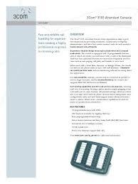 Attendant Sheet 3com 3105 Attendant Console Cyberstreams