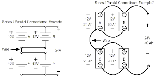 connecting batteries chargers in series parallel deltran figure 5 batteries connected in series parallel example 2