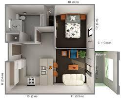 1 bedroom house plans. One Bedroom Apartments Plans: IHouseFloorPlans Housing \u0026 Dining 1 House Images 7 On Floor Plans R