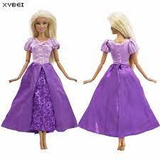 Câu Chuyện Cổ Tích Bộ Trang Phục DỰ TIỆC CƯỚI Đầm Sao Chép Công Chúa  Rapunzel Đầm Tím Nơ Quần Áo Cho Búp Bê Barbie Phụ Kiện Đồ Chơi|clothes for  barbie