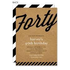 40th Birthday Invitations Retro Kraft 40th Birthday By Noteworthy Collections Invitation Box
