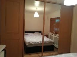 complete stanley quality brand 4 oak mirror sliding wardrobe doors homebase vgc buckhurst hill