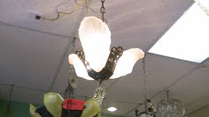 art deco style slip glass chandelier from 1920 s chandelier