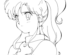 Small Picture Anime Coloring Page 9 Sailor JupiterMakoto Kino by HaseoKamiya