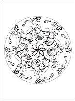Mandala Met Bijen Voor Om Te Kleuren Gratis Kleurplaten