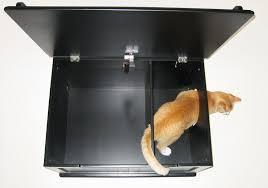 the designer catbox litter box enclosure in black catbox litter box enclosure