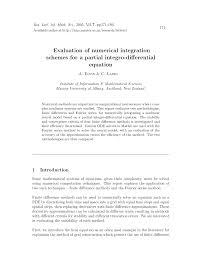 pdf evaluation of numerical integration