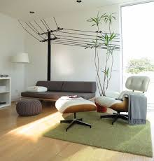 eames furniture design. Cool Wall Decals Make A Beautiful Backdrop For The Eames Lounge And Ottoman Furniture Design