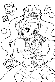 Glitter Force Coloring Page