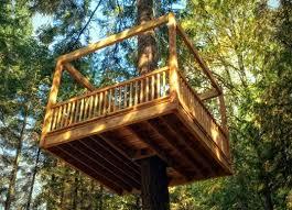 simple tree platforms. Brilliant Simple Tree Platform Designs  Friendly Tree House Elevated Living Fancy  Green Design  To Simple Platforms