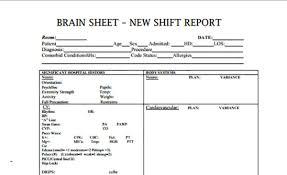 Nursing Shift Report Template The 10 Best Nurse Brain Sheets Scrubs The Leading Lifestyle