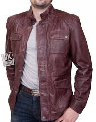 mens oxblood vintage racing leather jacket harlequin size s 3xl only