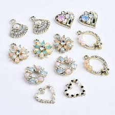 New arrived <b>20pcs lot color rhinestone</b> pearls core decoration alloy ...