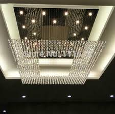 new design square crystal lamp large modern crystal chandelier hotel lobby chandelier lighting l100 w100 h150cm pendant light glass blown glass pendant