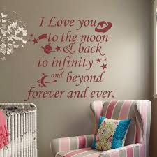 i love you to the moon and back wall decal words kids bedroom decor nursery wall art 114 3cm x 106 68cm in wall stickers from home garden on  on wall art words for nursery with i love you to the moon and back wall decal words kids bedroom decor