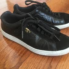 Puma Unisex Shiny Basket Sneakers 7 5w 6m