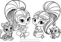 Shimmer Shine Coloring Pages With Shimmer And Shine Coloring Page