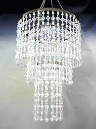 impressive beaded crystal chandelier crystal beaded 6 light shaded chandelier