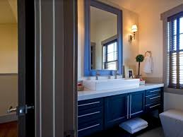 Blue and brown bathroom designs Blue Purple Bathroom Ideas Modern Bathroom Decorating Ideas Brown Wood Door Rectangle Dark Blue Shaker Wooden Vanity Large Brown Frame Glass Vanity Mirror Square Twin Qualitymatters Bathroom Ideas Modern Bathroom Decorating Ideas Brown Wood Door