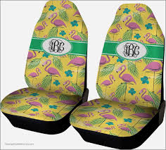 pink flamingo car seat covers set of two personalized automotive