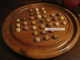 Antique Wooden Game Boards Antique 100s Wooden Hand Turned Solitaire Game Board W Antique 37