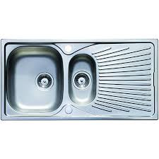 Wickes Belfast 1 Bowl Kitchen Ceramic White Sink  WickescoukKitchen Sinks Wickes