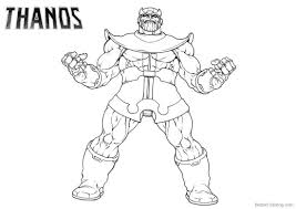 Thanos Coloring Pages Line Art Drawing Printable For Free Crafts
