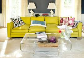 acrylic furniture. Acrylic Furniture Yellow Couch Living Room Home Decor Interior Design Coffee Table Book Stack Natural Light