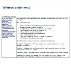 Witness Statement Template Sample Witness Statement Template Free ...