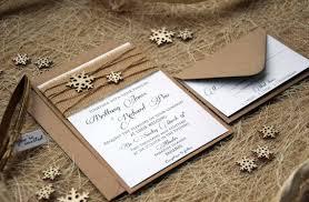 Rustic Winter Wedding Invitations Winter Wedding Invitation Winter Custom Invitations Snowflake