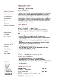 Security supervisor resume