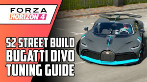 7:19 today i show how fast, or slow the bugatti chiron is. Forza Horizon 4 Bugatti Divo S2 Class Tuning Guide Forza Horizon Forza Horizon 4 Bugatti